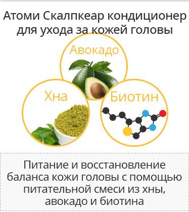 Кондиционер Атоми скалпкеар состав трав